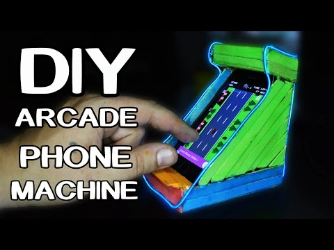 How To Make Arcade Phone Machine Out Of Popsicle Sticks!