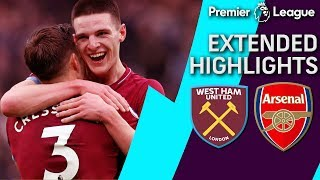 West Ham v. Arsenal | PREMIER LEAGUE EXTENDED HIGHLIGHTS | 1/12/19 | NBC Sports