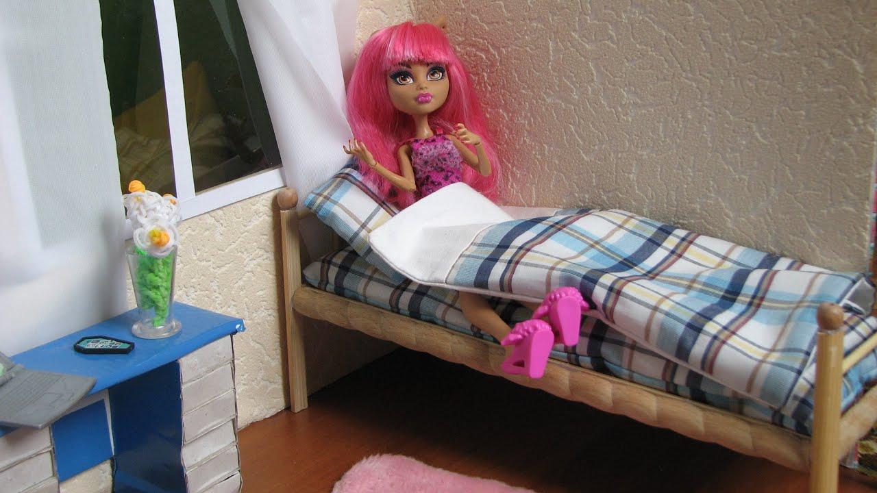 Кровать для кукол своими руками с фото
