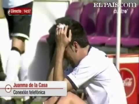 Miguel García muore in campo per 25 secondi
