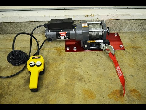 Warn Winch Install on Garage floor to pull vehicles up the driveway and into the garage