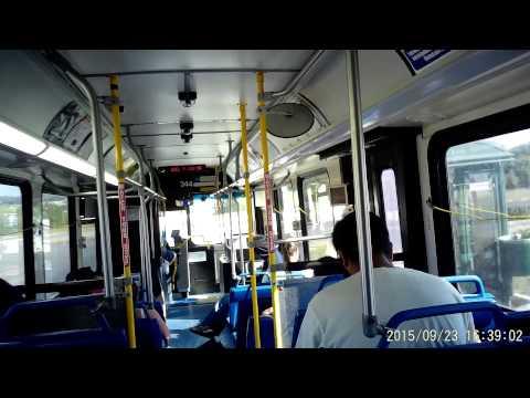 VIA bus route 5O2 in San Antonio, Texas on Wednesday September 23, 2015