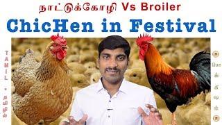 Broiler Vs நாட்டுக்கோழி | Diwali Festival | Tamil Pokkisham | Vicky