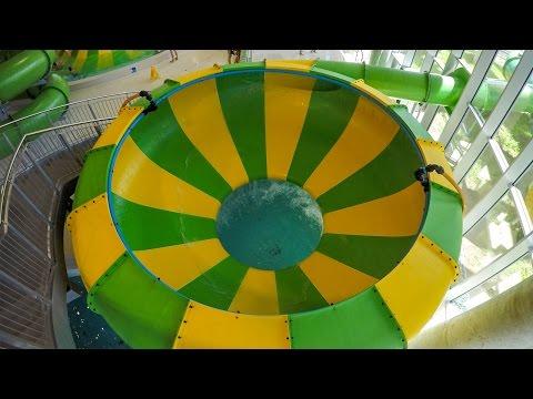 Aquapark Koszalin - Space Bowl Trichterrutsche   Zjeżdżalnia Cebula Onride POV