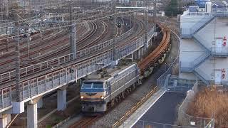 2018/1/21  8087レ  EF66 27牽引  レール輸送列車