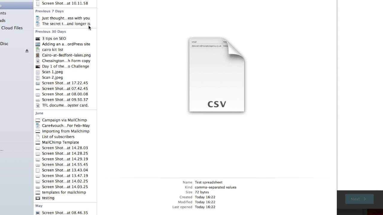 Importing CSV File Into Mailchimp List YouTube - Mailchimp template size
