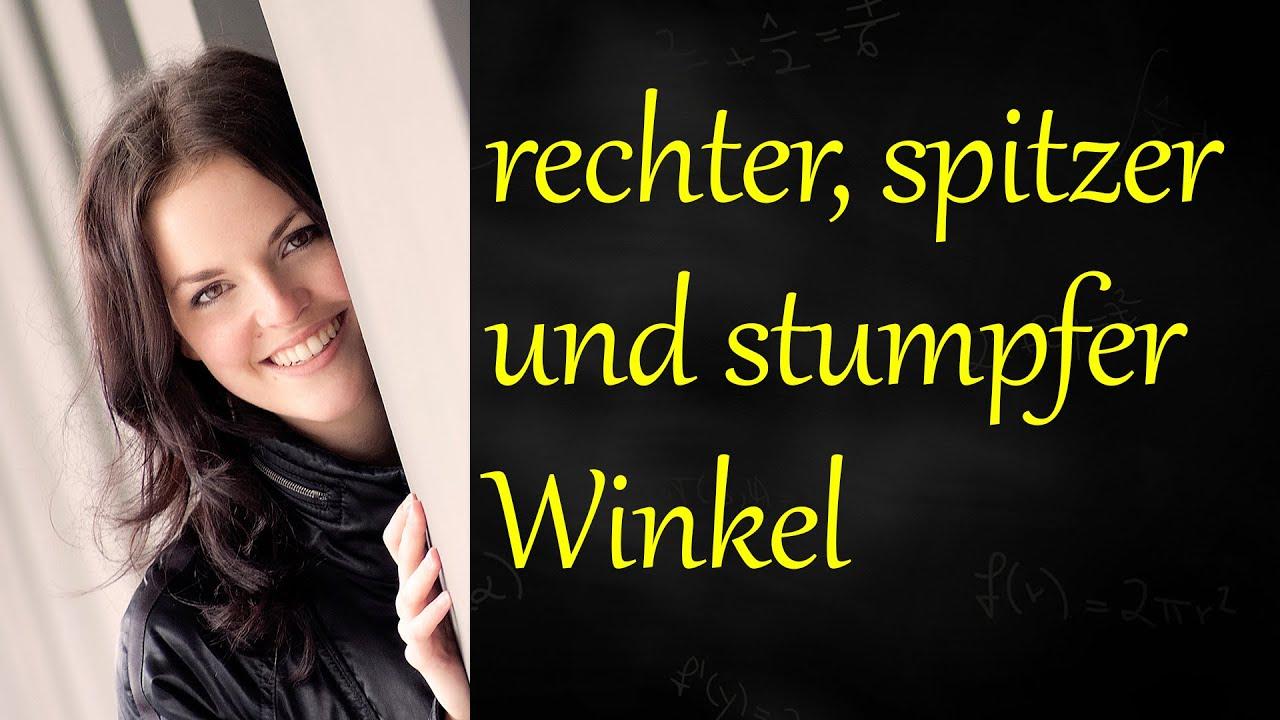 Rechter Winkel Spitzer Winkel Stumpfer Winkel Youtube