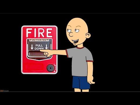 Classic Caillou Pulls The Fire Alarm/Grounded