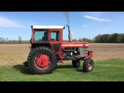 Massey Ferguson 1100 Diesel tractor w/ cab - YouTube