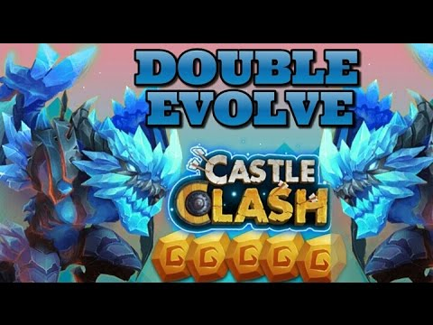 Castle Clash Double Evolving Arctica! The DAMAGE!