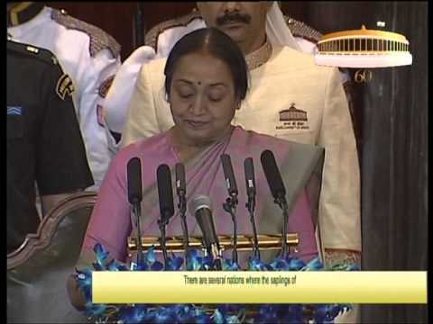Hon'ble Speaker Smt. Meira Kumar on the occasion of 60th Anniversary of the Parliament of India