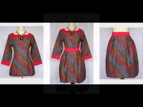 BAJU BATIK MODEL DRESS BATIK SOLO CANTIK