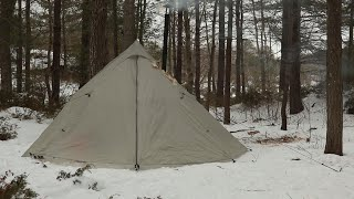 Solo Winter Camping, Iฑ Hot Tent