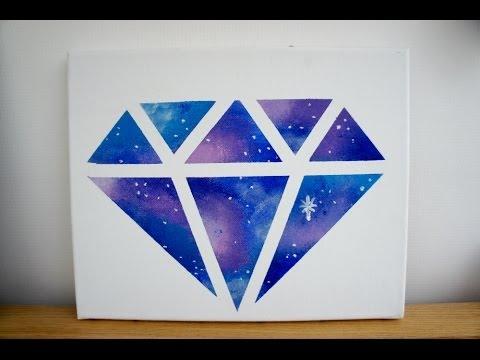 DIY Room decor: Galaxy diamond painting - YouTube