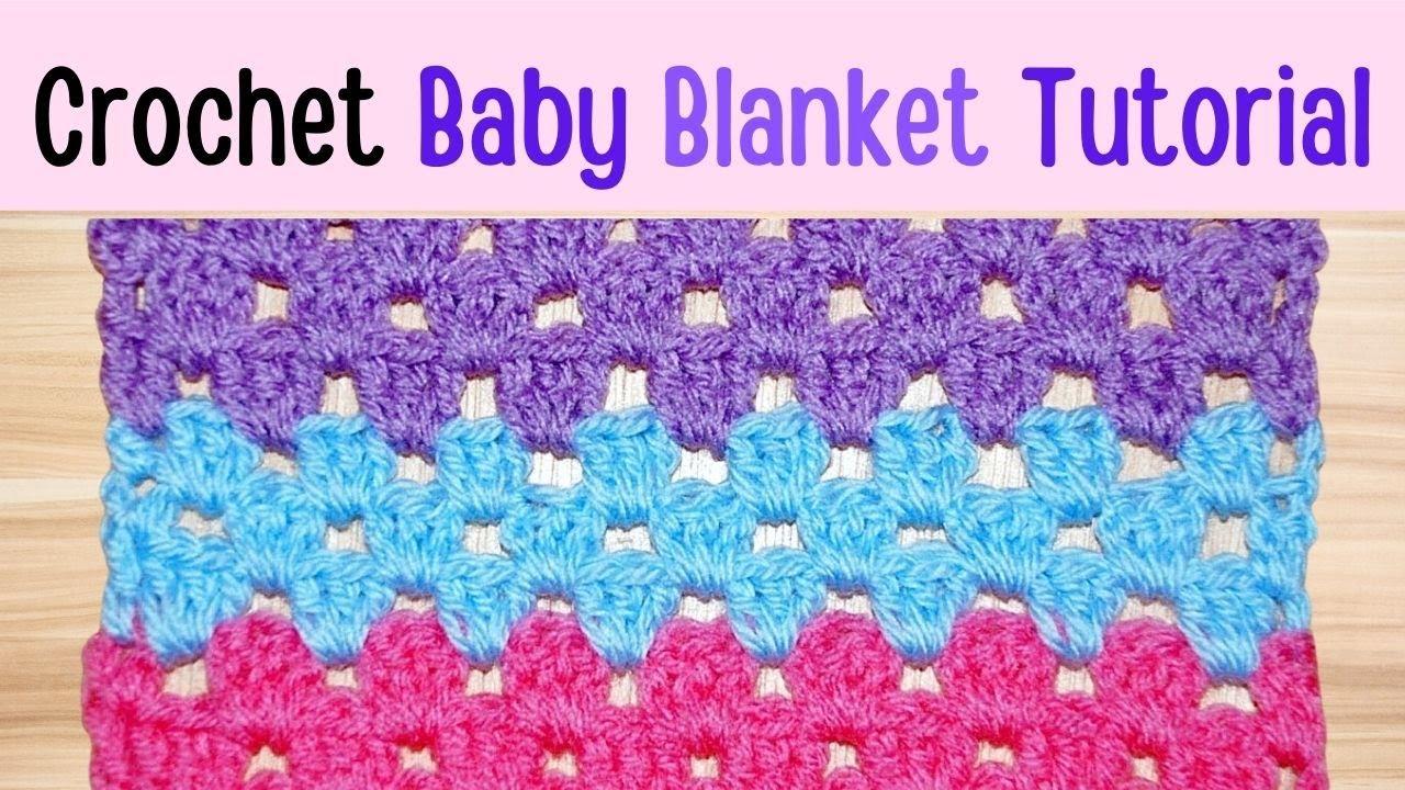 How To Crochet Granny Stripe Blanket Tutorial Crochet
