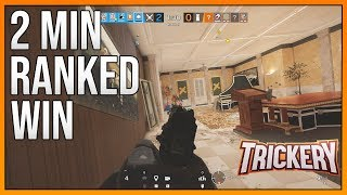 How To Win A Game In Under 2min - Rainbow Six Siege Funny Moments
