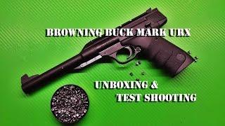 Browning Buck Mark URX, .177 pellet gun unboxing and shooting test
