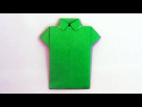 How to make an easy origami shirt paper | DIY origami shirt ... | 360x480