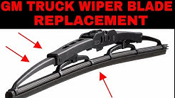 How To Replace Wiper Blades On '99-'07 GMC And Chevy Trucks