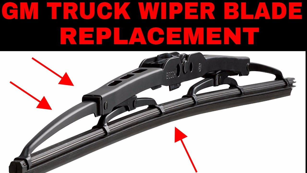 How To Replace Wiper Blades On 99 07 Gmc And Chevy Trucks Youtube