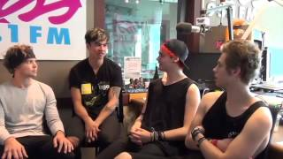 '5 Seconds Of Summer' Answer Fan Tweets in Kiss 95.1 Interview