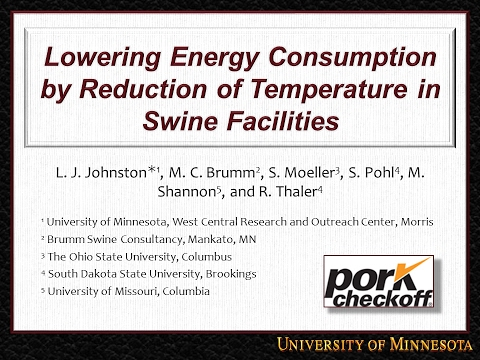 Lowering Energy Consumption by Reduction of Temperature in Swine Facilities