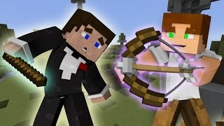 Прохождение карт Minecraft: СТРЕЛЯЕМ ИЗ ЛУКА ПО ДРУГ ДРУГУ МАЙНКРАФТ