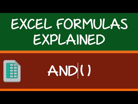 AND Formula in Excel
