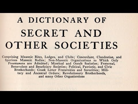 A Dictionary of Secret and Other Societies (Link to PDF in description)