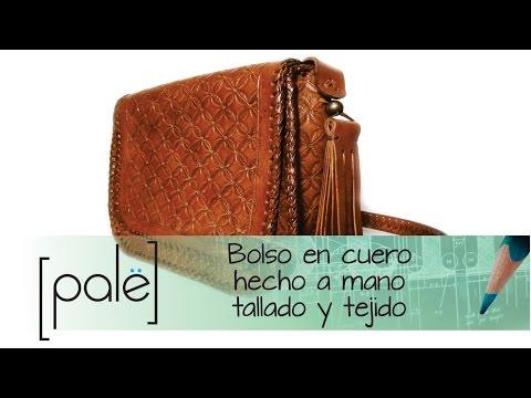 8a8bec47 Bolso artesanal tallado y tejido (Moldes para descargar gratis) - YouTube