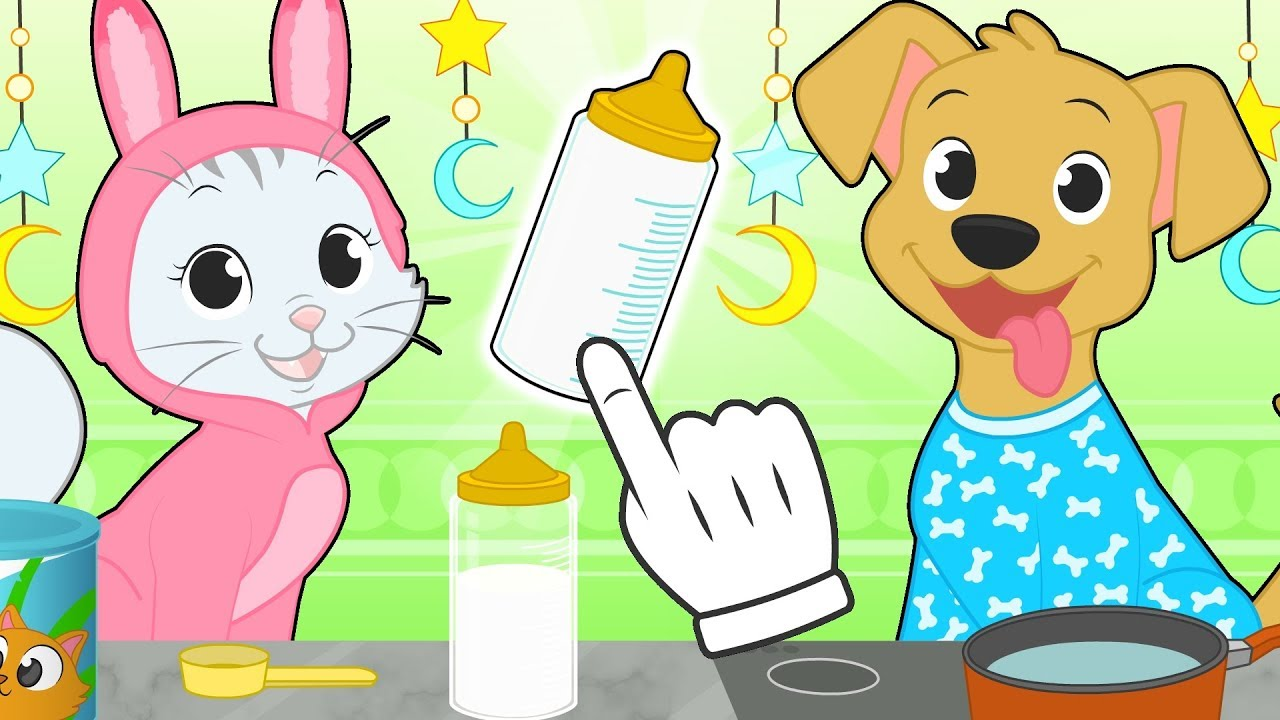 Baby Pets Max And Kira Prepare To Go To Sleep Cartoons For Kids Youtube