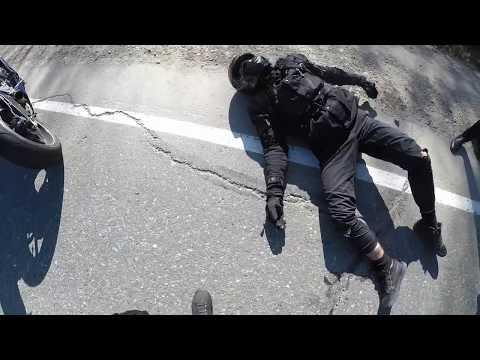 Падение с Мотоцикла На Скорости 220км/ч,Moto Crash.