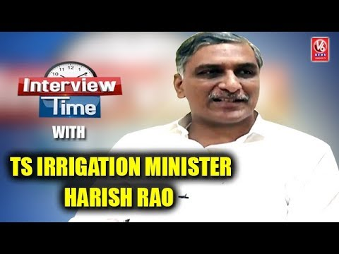Interview Time With Telangana State Irrigation Minister Harish Rao | V6 News