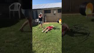 Drunk Girl can't get up fail