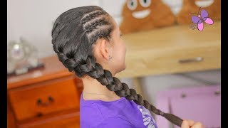 French Braids Hairstyle | Braided Hairstyles | Hairstyles for Girls | ChikasChicEng