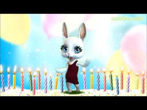 Zoobe Зайка Поздравляю с днем рождения! - Видео с YouTube на компьютер, мобильный, android, ios