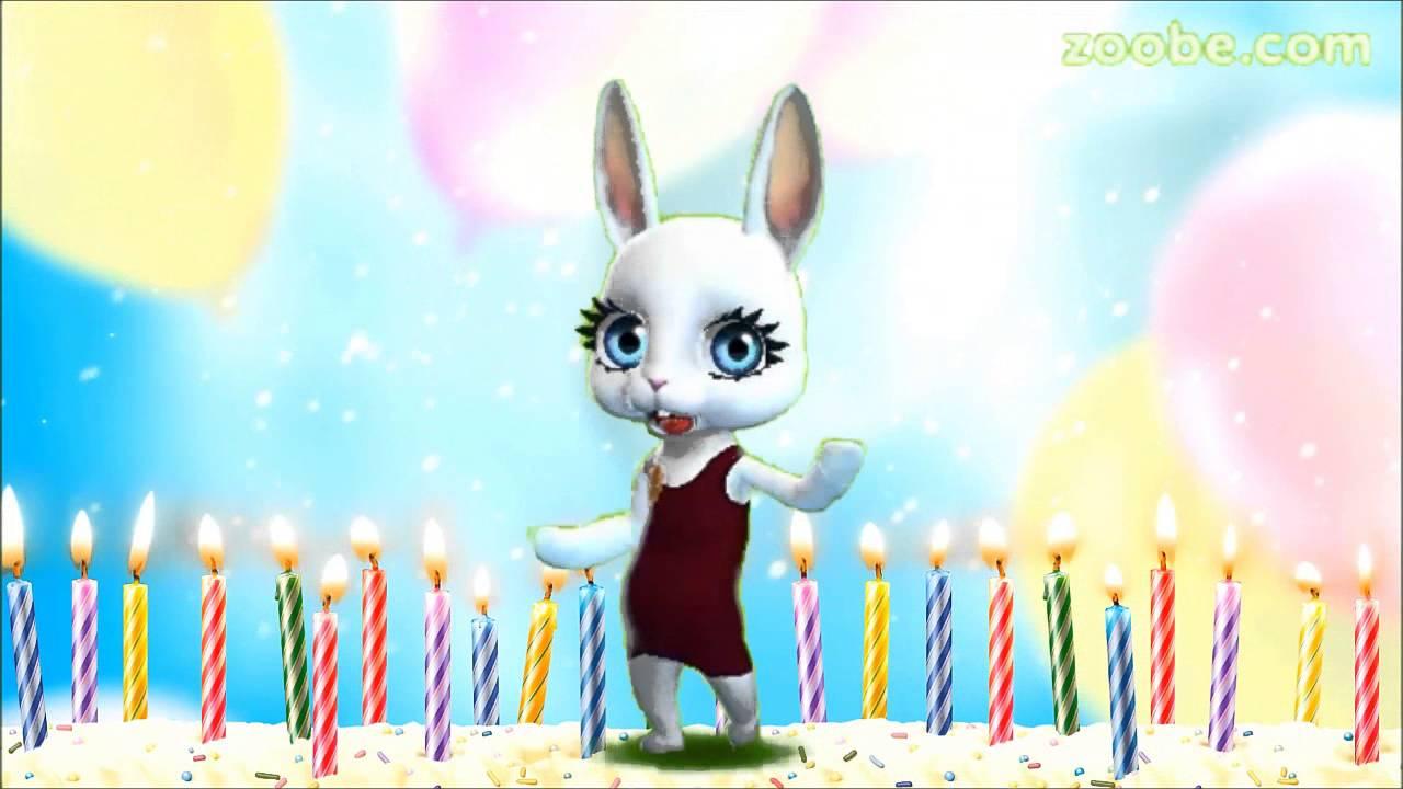 Скачать видео зайка поздравления с днем рождения