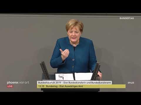 Generaldebatte im Bundestag: Rede von Angela Merkel am 21.11.2018