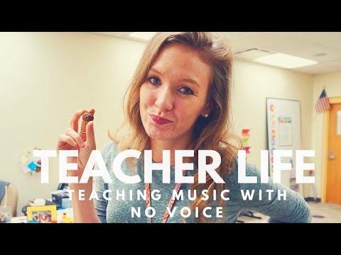 TEACHING MUSIC WITH NO VOICE // teacher life #15