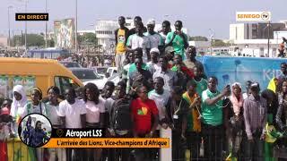 """En direct, l'arrivée des """"Lions"""" à l'aéroport Léopold Sédar Senghor"""