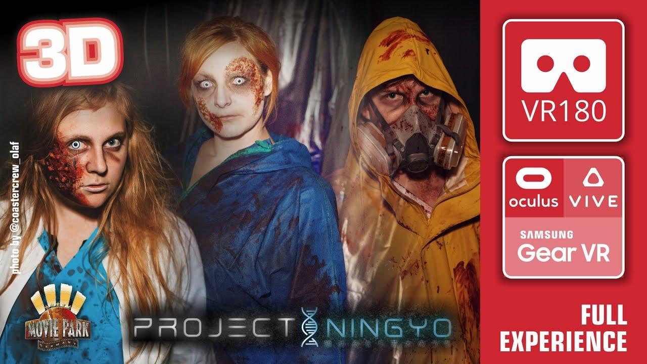 Horror Maze PROJECT NINGYO in 3D - walkthrough Movie Park Halloween Horror Festival 3D VR180 POV