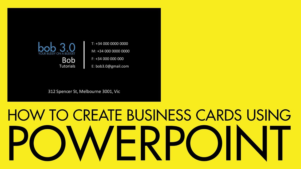 How to create a business card using PowerPoint - YouTube