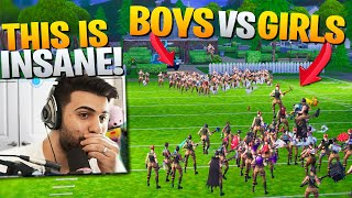 Boys VS Girls - We Decided Who's BETTER At Fortnite! (surprising) - Fortnite Battle Royale