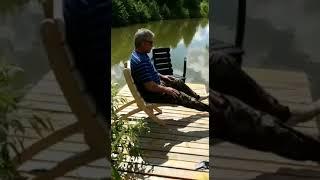 """Складной деревянный стул для дачи и рыбалки """"ПРЕМЬЕР-МИНИСТР"""""""