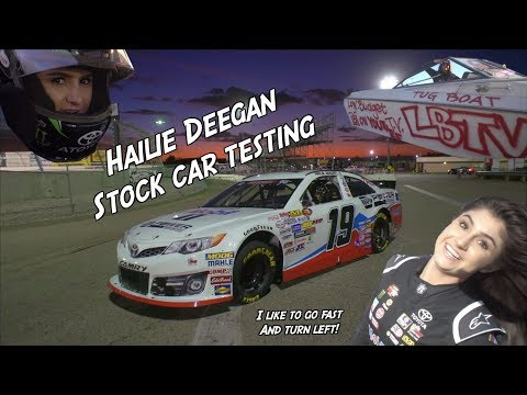 16 year old girl driving Stock Cars! Hailie Deegan
