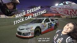 16 year old girl driving Stock Cars! Hailie Deegan
