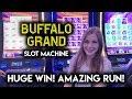 EPIC RUN! Buffalo Grand Slot Machine!! HUGE WIN!!