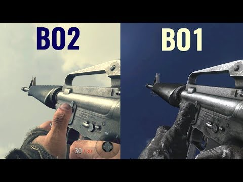 COD Black Ops VS COD Black Ops 2 Gun Sounds