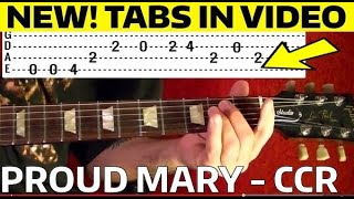 Proud Mary - CCR - Guitar Lesson WITH TABS!