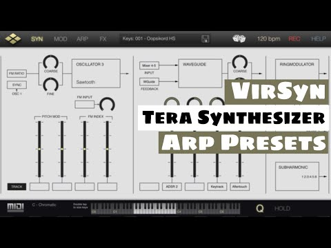 Virsyn Tera Modular Synthesizer Sound Demo - Arpeggiator Presets | SYNTH ANATOMY